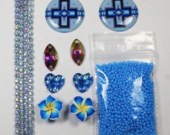 Blue Beading Set