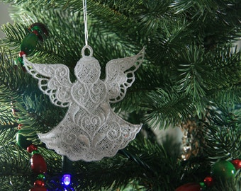 Angel Christmas Ornament, FSL Angel Ornament, Angel Ornament, 10 Angel Designs to Choose From!