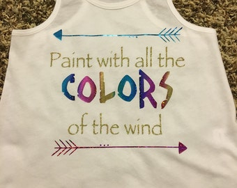 Paint with all the colors of the wind, Pocahontas shirt