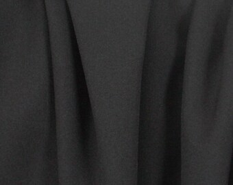 2 Way Stretch Black Polyester Fabric - 2 Yards
