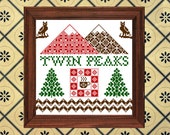 Twin Peaks Sampler - Modern Folk Cross Stitch Pattern Pdf DOWNLOAD