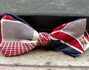 Vintage Clip On Bow Tie-Retro Bow Tie-WWII Era Bow Tie-Hart PHILA. + N.Y.