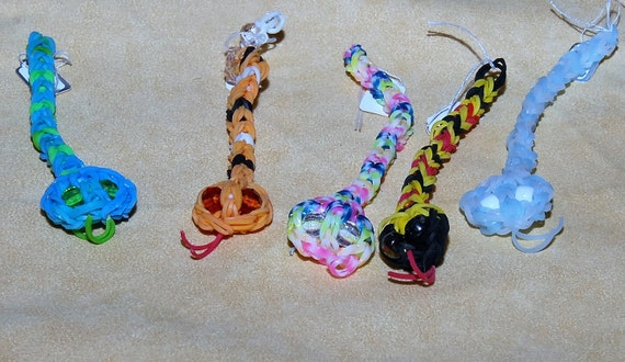 Rainbow Loom Snake Pet. Kids Love These!! Made by my Granddaughter, They are Always Requested at the Craft Shows