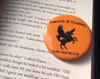 Demigod In Training, Camp Half-Blood pin / percy jackson