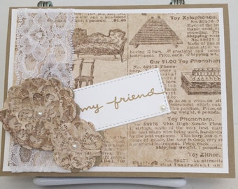 Handmade Note Card, Any Occasion/Friend Note Card