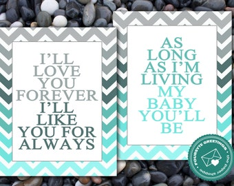 Love you forever Baby art - Blue