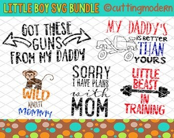 Little Boy SVG Cut File Bundle - PNG Included -20 files- Vinyl- Cricut- Silhouette Cameo- Diy projects-