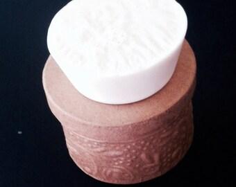 Applejack Peel Soap, Goats Milk Soap, White Bar of Soap, Dye Free Soaps, Bars of Soap, Ready to Ship