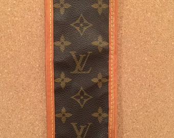 Cuff upcycled from genuine Louis Vuitton canvas