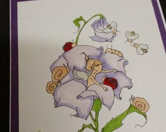 Fairy in the Garden card