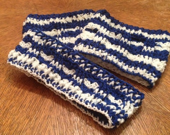 Handcrafted Crocheted Boot Cuffs with matching Ear Warner