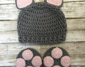 Newborn kitty , newborn cat, newborn cat outfit, newborn photo prop, baby cat costume, kitty costume, infant cat booties, cat hat