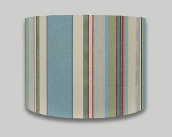 Blue Green Red Stripe drum lampshade lightshade lamp shade 20cm 25cm 30cm 35cm 40cm sizes available