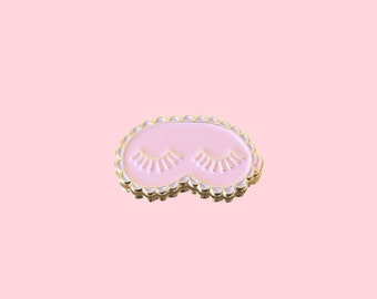 Enamel Pin / Lapel Pin - Sleeping Lashes