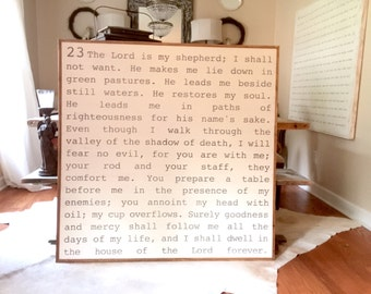 Psalm 23 Wood Sign 4x4