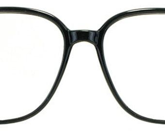 Vintage Black Plastic Eyeglasses
