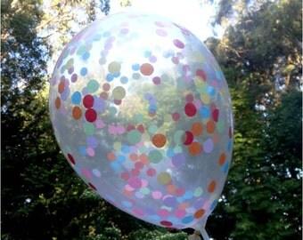 Confetti Balloons - 28cm Small Circles (Choose Your Confetti Colours!)