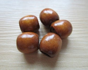 5PCS wood Dreadlock beads wooden dread Making Jewelry Accessories about 7mm hole