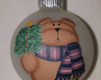 Hand Painted Teddy Bear Ornament