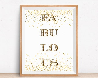 Fabulous Print, Wall Art Home Decor, Inspirational Quote, Fabulous Motivational Quote, Typography Print, Calligraphy Print, Nursery Wall Art