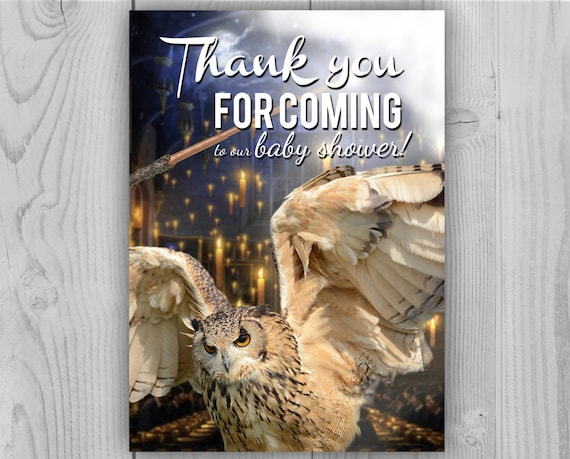 Digital Harry Potter Thank you Card, Harry Potter Birthday for Harry Potter Birthday Party or Baby Shower. Thank note