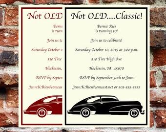 Classic Car Birthday Invitation