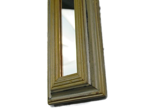 Narrow wall mirror gold distressed mirror by for Skinny wall mirror