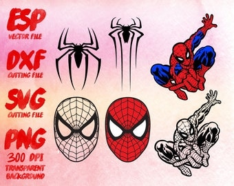 Spiderman   Clipart , SVG Cutting , ESP Vectors files , T shirt , iron on , sticker ,Personal Use