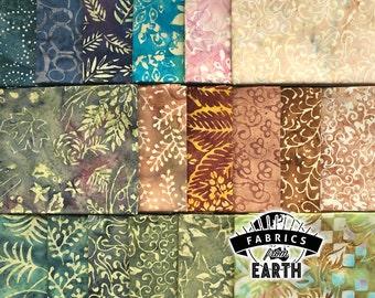 Naturally Neutral Batik 18 Fat Quarter Bundle - Quilting Fabric