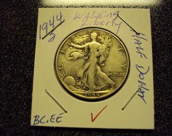 1945  Walking Liberty Silver Half Dollar