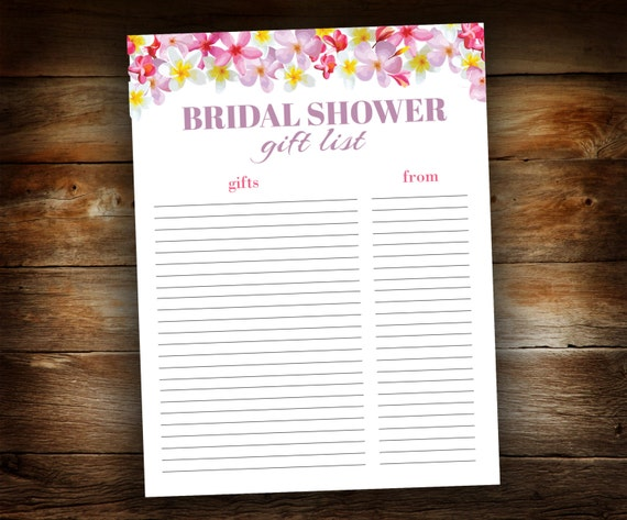 Wedding Gift List Online: Bridal Shower Gift List List Of Received By