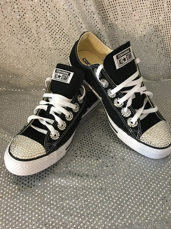 2fc259737b8 hot sale 2017 Blinged Swarovski Converse Shoes Crystallized Chuck by  Blingsshop