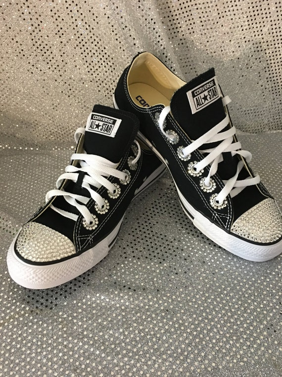 50%OFF Blinged Swarovski Converse Shoes Crystallized Chuck by Blingsshop efccefd7a