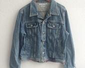 Vintage Tommy Hilfiger Denim Jeans Jacket Made In Usa Size XL 90s Hip Hop Ralph Lauren