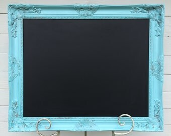 Ornate Chalkboard Wedding Chalkboard Baroque Chalk Board Menu Board Wedding Seating Chart Framed Chalkboard Blue