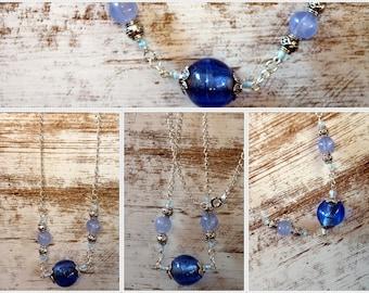 Blue babble necklace