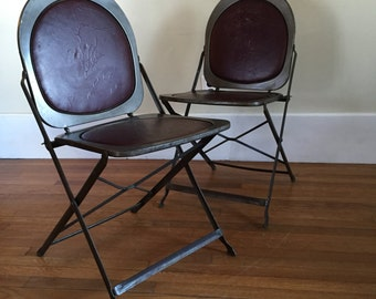 Vintage Deco Folding Chairs