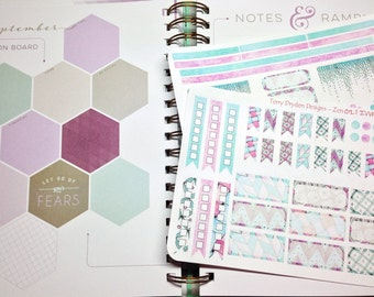 Zen Gelato Weekly Planner Stickers for Inkwell Press and other horizontal and vertical planners