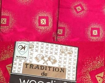 Beautiful Woodin Tradition and Tresor Cotton Fabrics (Made in Ghana & Ivory Coast)