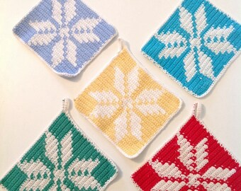 Vintage Crochet pot holders  - swedish