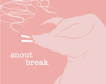Snout Break Illustration Art Print