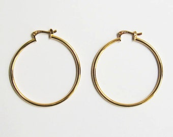 "Classic Gold Filled 1 1/2"" Loop Earring"