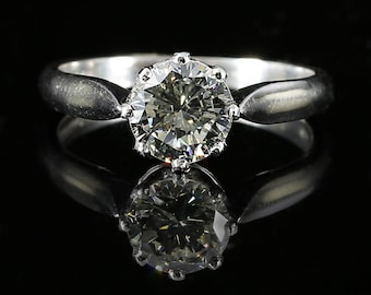 Antique 1.50ct Old Cut Diamond Solitaire Ring