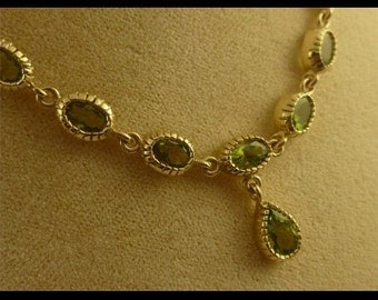 Wonderful 9ct Gold Peridot Necklace