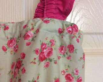 Girls Summer dress, 5T Cath Kidston style fabric