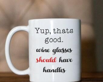 Coffee mug- Big Bang Theory- Penny- wine glass handles