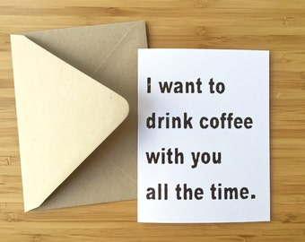 funny coffee card funny card funny valentine card coffee card funny romantic