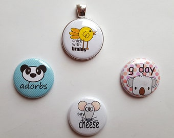 Magnetic Pendant with Four Interchangeable Flair Magnets