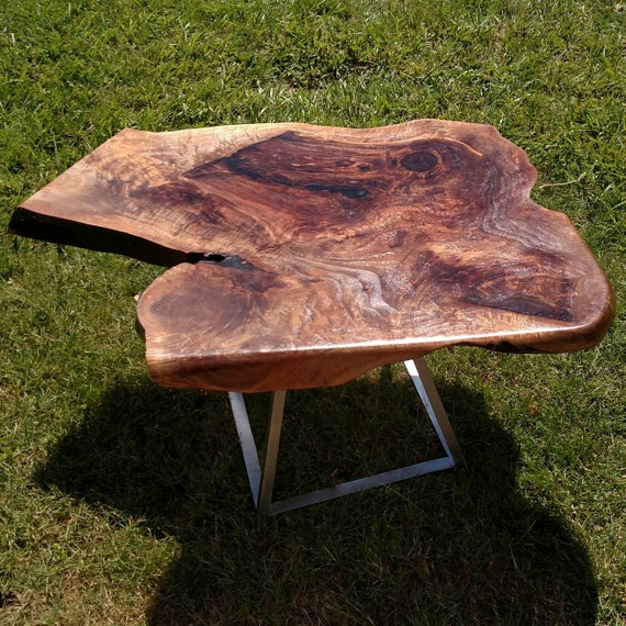 Oregon Coffee Table Walnut: Living-Edge Oregon Walnut Coffee Table By AreteWoodworking