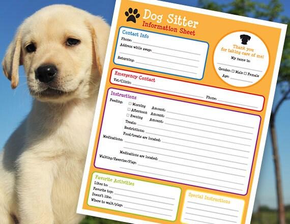 dog sitter instructions